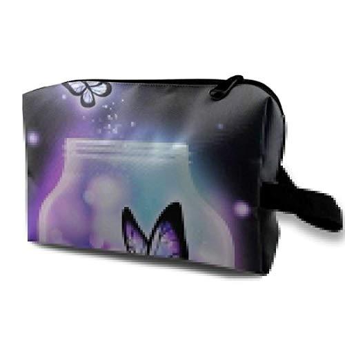 Patent-tasche Auf Der Vorderseite (Schmetterling kosmetiktaschen Make-up veranstalter Tasche Tasche reißverschluss geldbörse Handtasche Handtasche)