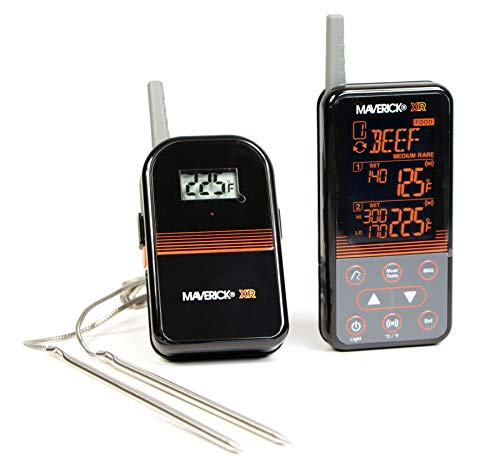 Maverick XR-40 Barbecue Funk-Thermometer Set schwarz -