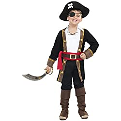 Traje de pirata con casaca para niño, (5-6 años)