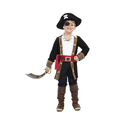 Imagen de disfraz pirata casaca niño color negro talla 3 4 años tamaño infantil