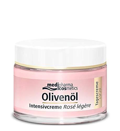 Olivenöl Intensivcreme Rosé Légère von Medipharma Tagescreme   LSF 20 Rosig strahlender Teint. Strafft und reduziert Falten