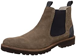 United Colors of Benetton Mens Brown Leather Boots - 8 UK/India (42 EU)