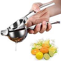 HERUIO Exprimidor de limón manual de servicio pesado, exprimidor manual de cítricos, exprimidor de frutas cítricas de lima a mano, exprimidor seguro rápido y eficaz, súper fácil de limpiar