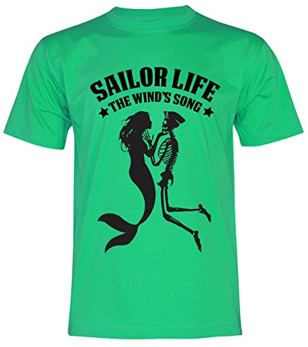 PALLAS Unisex's Anchor Sailor Life Vintage Funny T Shirt Green