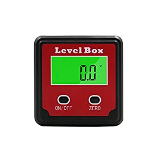 EXQUISITE Digital Protractor Angle Gauge 2 Keys Inclinometer Level Box Magnetic Base Digital Angle Finder