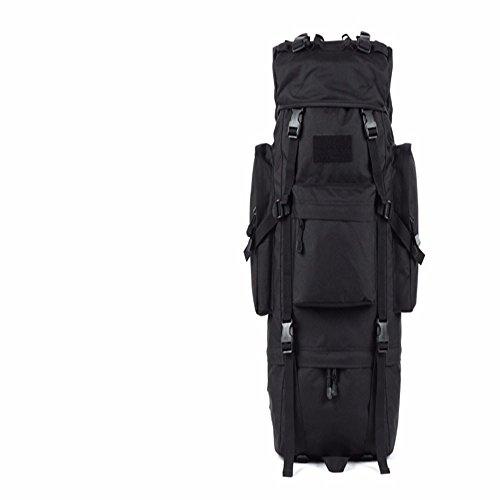 TBB-Borsa tracolla a zaino sport impermeabile per alpinismo all'aperto,nero 65L Black 65L
