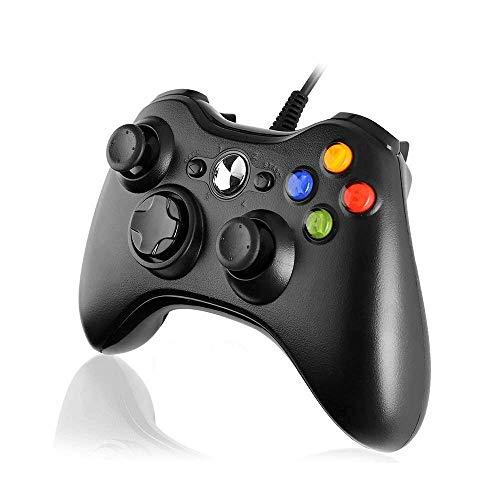 Cypin Xbox 360 Controller USB Controller Game Controller mit Kabel Wired Gamepad Joypad Joystick für Microsoft Xbox 360 und PC (Windows 7/8/10/XP)-Schwarz