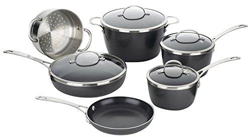 Cuisinart gw-10greenware Aluminiumguss 10Kochgeschirr-Set (10 Stück Grün Kochgeschirr-set)