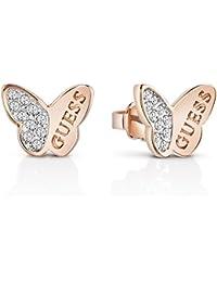 Guess–Pendientes para mujer mariposa dorado Rosa–ube83022