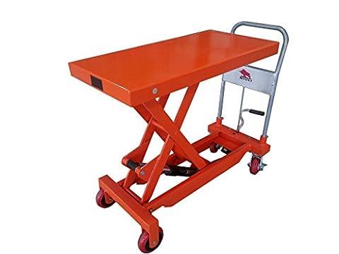 750KG Lift Table - Lifting Trolley Bench Workshop Garage Tools Mobile Scissor