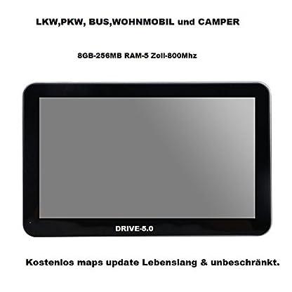 Navigationsgert-Fr-LKWTRUCK-PKW-BUSTAXI-WOHNMOBIL-und-CAMPERRadarwarner-Kostenlos-Map-Update-GANZ-EUROPA-KARTE47-lnder-Gefahrgut-GRATIS-SONNENBLENDE