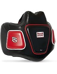 Paffen Sport Pro Thai Body Protector para el entrenamiento de deportes de lucha, Unisex, Pro Thai, blanco / rojo, medium