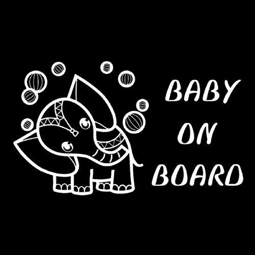 Zxdcd 19.4X11.3 Cm Baby An Bord Elefant Spielen Mit Einem Ball Cartoon Auto Aufkleber Decals Zubehör Weiß (Auto-aufkleber Spiel)