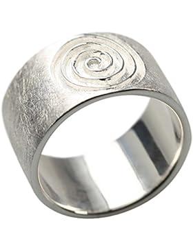 Gebürsteter 925er Silberring im Spiraldesign