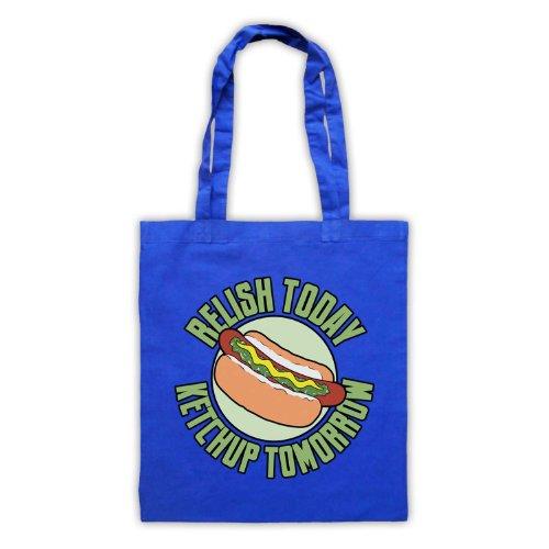 Relish oggi Style-Borsa shopper, motivo: aforismi [lingua inglese] Blu