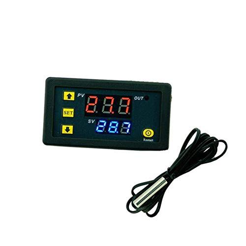 Precisión Controlador de temperatura Mini controlador de temperatura digital Regulador de termostato...