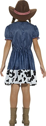 Imagen de disfraz de vaquera tejana azul para niña alternativa