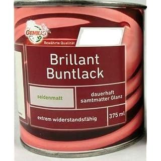 Genius Pro Brillant Buntlack/seidenmatt / 750 ml/Alkydharzlack (auf Lösemittelbasis) / extrem widerstandsfähig/Ideal geeignet für innen u. außen, (Silbergrau)