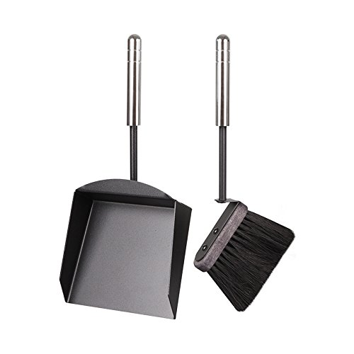 3 teiliges Metall und Handfeger Set Kehrschaufel Ascheschaufeln