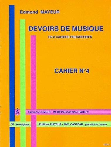 Devoirs de musique cahier 4