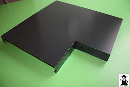 Ecke 90° Mauerabdeckung Attika Aluminium farbig 0,8 mm (Zuschnitt 33 cm, Anthrazit Ral 7016)