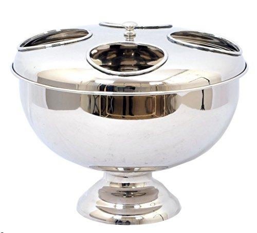 Moderne Luxus Vier Flasche Wein Kühler–Ideal für das Zuhause–Silber poliert Fertig Ice...
