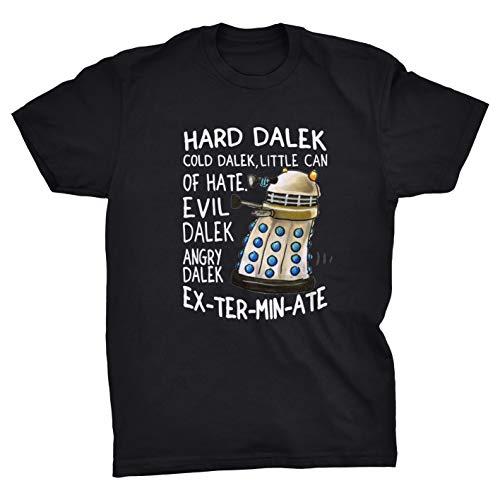 k Little Can of Hate Evil Dalek Angry Dalek Exterminate T-Shirt (Black, 4XL) ()