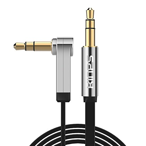 Audio Kabel, Kinps 1M 90° to 180° Stereo 3.5mm Premium Auxiliary Audio Kabel,Gold-Plated Plug for Apple iPhone, iPod, iPad,Android Samsung Smartphones,Tablets MP3 Players and more.
