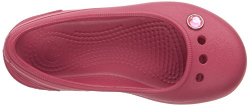 Crocs Genna II Gem Gs, Ballerines FIlle Rouge (Raspberry/Coral)