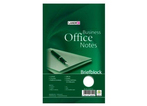LANDRE 100050267 Briefblock Office 10er Pack A5 50 Blatt blanko 70 g/m² Schreibblock Briefblöcke Briefpapier