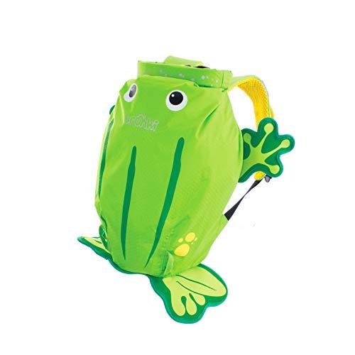 Trunki Zainetto impermeabile per piscina e palestra per bambini - PaddlePak Ribbit, la rana (Verde)