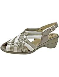Calzado mujer confort de piel Piesanto 2562 sandalia zapato cómodo ancho