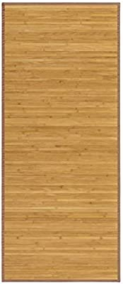Alfombra Pasillera, colo Madera Natural, de Bambú Natural 60 X 200cm, Natur 60x200 - Hogar y Más