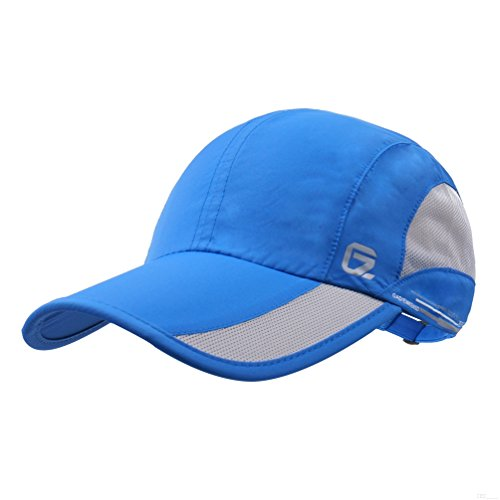 GADIEMKENSD Quick Dry Sports Hat Lightweight Breathable Soft Outdoor Run Cap (Classic up, Blue) Polyester Pro Mesh Cap