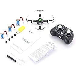 fengwen66 JJR/C H8 Mini 2.4G RC Drone Quadcopter con 3 baterías Combo Modo sin Cabeza (Negro)