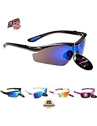 RayZor Ski Snowboarding Sunglasses | 100% UV400 Protection, Ventilated Skiing and Snowboard Sunglasses | Comfortable, Shatterproof For Skis, Snowmobiles, & Snowboards | Anti Glare Snow Eyewear.