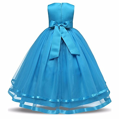 Sofyana light blue girls party wear costume for chlidren summer ...