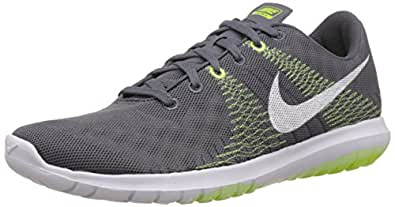 Nike Men's Flex Fury Dark Grey,White,Liquid Lime,Volt  Running Shoes -7 UK/India (41 EU)(8 US)