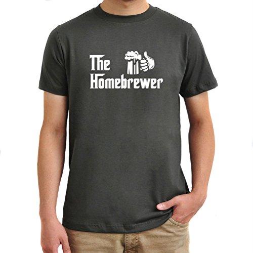 Maglietta The Homebrewer Argento brunito