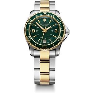 Victorinox Maverick Small Cuarzo – Reloj (Reloj de Pulsera, Femenino, Acero Inoxidable, Oro, Verde, Acero Inoxidable, Acero Inoxidable, Oro, Acero Inoxidable)