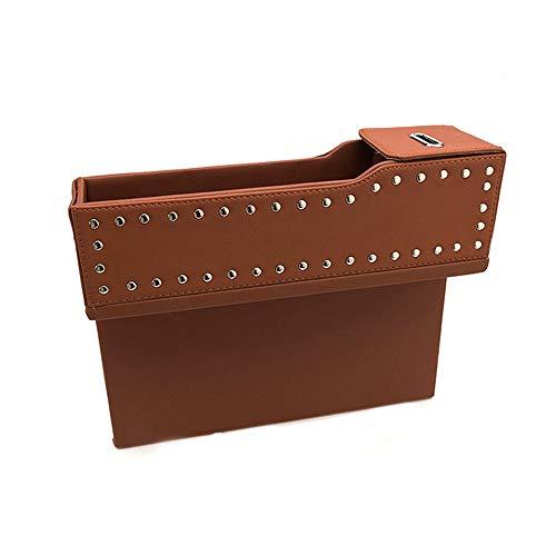 Car storage box Boîte de Rangement sous Fente pour siège de Voiture, Convient au Sac de Rangement pour clé de téléphone de Voiture