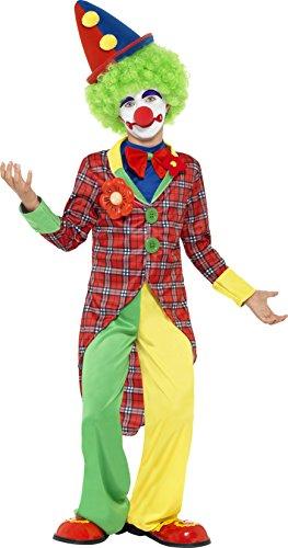 Smiffys Kinder Clown Kostüm, Jacke, Hose und Mock-Hemd mit Fliege, Größe: S, 44011