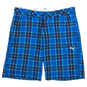 Puma Herren Golf Tech Check Bermuda Shorts Hosen Starke Blau S W 30