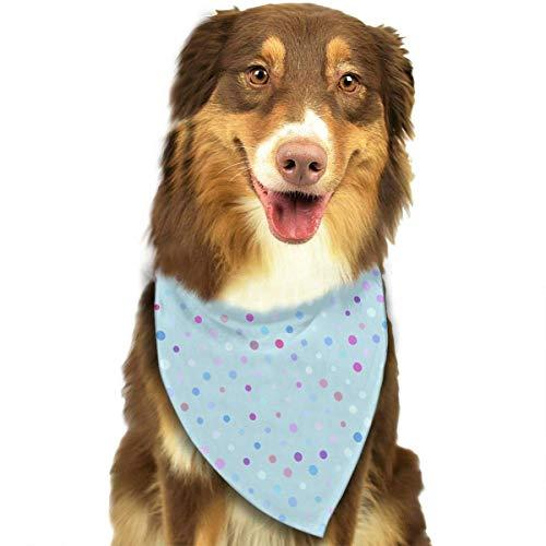 Hipiyoled Pet Bandana Bibs Triangle Bibs Scarfs Accessories for Pet Cats Baby Puppies (Blue Dots Pattern)
