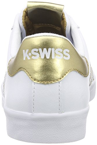 K-Swiss Belmont So, Sneakers Basses femme blanc/doré