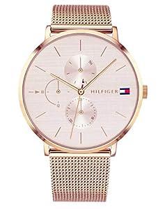 Tommy Hilfiger Reloj Multiesfera para Mujer de Cuarzo con Correa en Oro Rosa 1781944