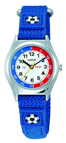 Lorus Jungen Analog Quarz Uhr mit Nylon Armband RG247KX9