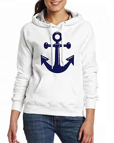 A classic ships or boats anchor Womens Hoodie Fleece Custom Sweartshirts white