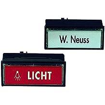 Grothe 1522186 Klingeltaster beleuchtbar rot rund Knopf H/ülse Aluminium EV1 Protact 101 LED