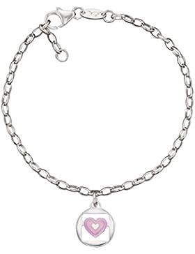Herzengel Kinder-Armband 925 Silber rhodiniert 16 cm - HEB-02LOVE